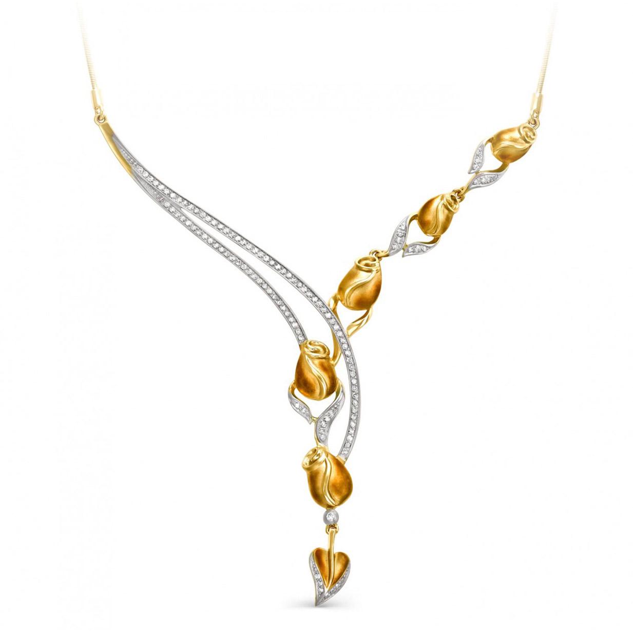 Колье из желтого золота